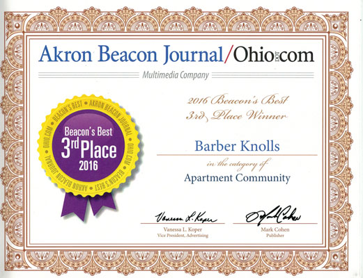 Barberton apartment, Akron area apartment, Summit County apartment