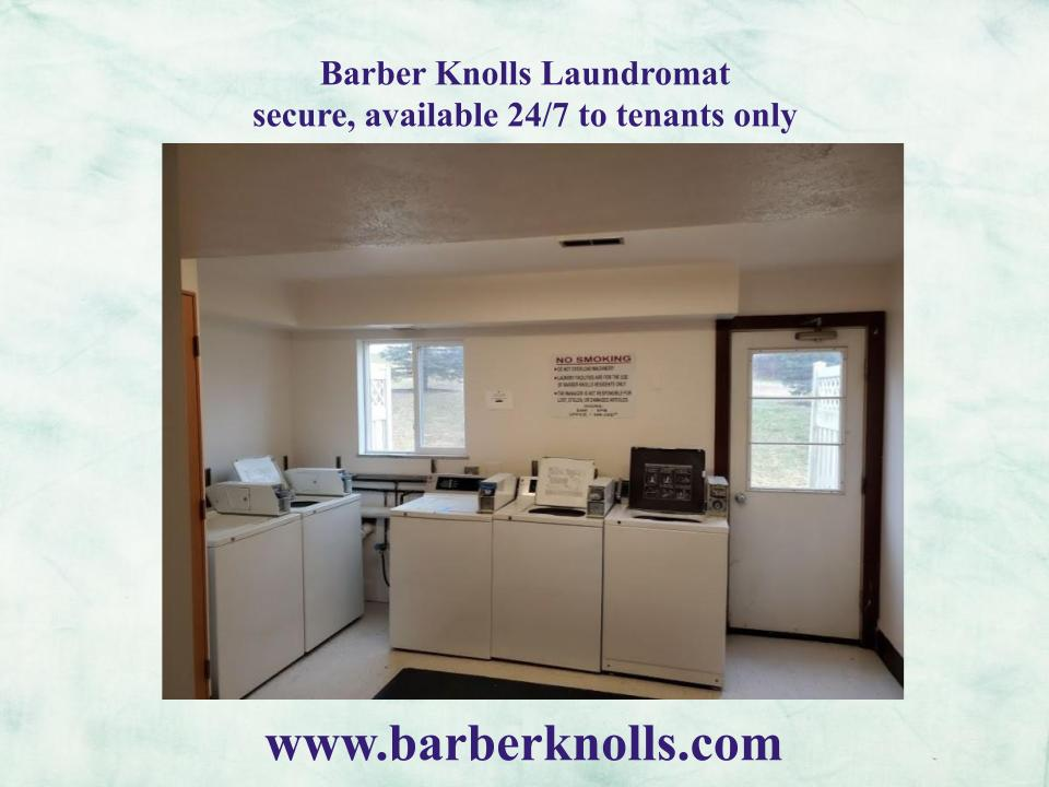 Barber Knolls apartments with on site 24 hour laundry